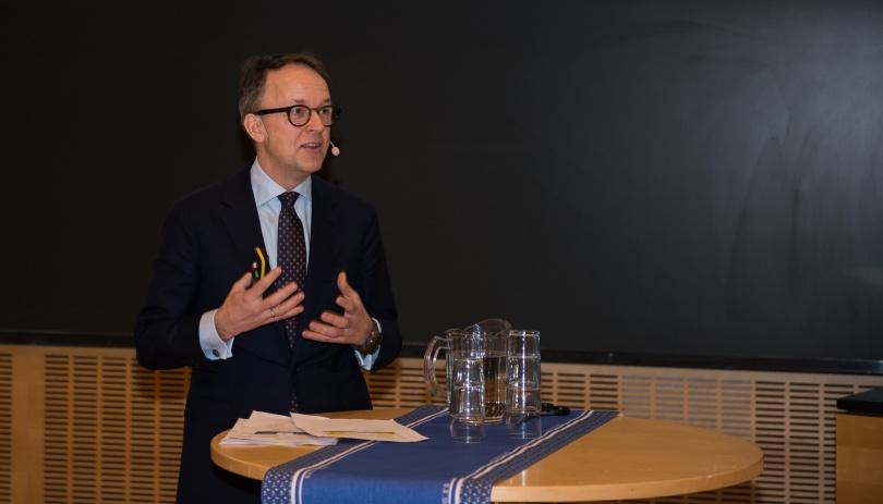 Oluf Ulseth administrerende direktør i Energi Norge, som er en av brukerpartnerne i HydroCen. Foto: Øyvind Buljo, NTNU